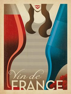 Vin De France by Anderson Design Group Vintage Advertisement Americanflat Size: 30 cm H x 21 cm W Wein Poster, Poster S, Vintage Advertisements, Vintage Ads, Vintage Posters, Vintage Wine, Wine Advertising, Painting Prints, Art Prints