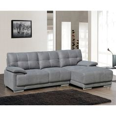 Sectional Color: Gray, Orientation: Left Hand Facing - http://sectionalsofaspot.com/sectional-color-gray-orientation-left-hand-facing-605705410/