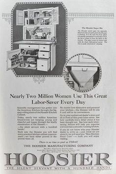 1920 Hoosier Cabinet Ad ~ Labor-Saver