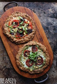 Individual Cauliflower Crust Pizzas {Beard and Bonnet} #glutenfree. This is hands down the best cauliflower pizza. Ever!
