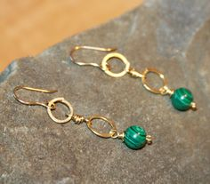 Long Green Earrings Green Earrings Malachite Earrings Gifts