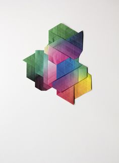aldotolino: Rift by Aldo Tolino Constellation of folded. Material Design, Constellations, Aldo, Paper Art, Pure Products, Abstract, Prints, Artwork, Colour