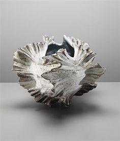 KOIKE SHOKO Monumental shell vessel, ca. 1997 Stoneware, glaze. 17 1/2 x 21 x 20 in (44.5 x 53.3 x 50.8 cm)