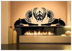 Wall-Room-Decor-Art-Vinyl-Sticker-Mural-Decal-Egyptian-Sphinx-Large-God-AS1133