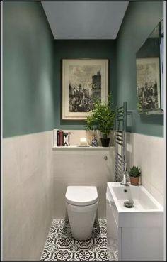 Beautiful master bathroom decor tips. Modern Farmhouse, Rustic Modern, Classic, light and airy master bathroom design a few ideas. Bathroom makeover a few ideas and bathroom renovation tips. Small Downstairs Toilet, Small Toilet Room, Very Small Bathroom, Modern Bathroom Design, Bathroom Interior Design, Small Bathrooms, Gray Bathrooms, Bathroom Designs, Bath Design
