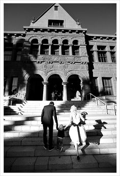 One of the coolest things about getting your marriage license in Orange County is the photo you can take on the stairs to the the Old County Courthouse.