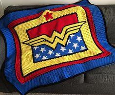 """Wonder Woman Crochet Blanket/ 55""""W x 46""""T/ easy"""