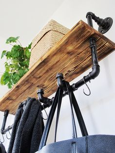 Industriální trubkový v?šák (Industrial pipe rack) (Diy Furniture Pipe)