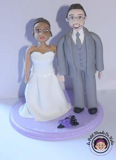 Figurine de mariage crée sur mesure #figurinedemariage