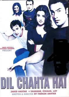 Dil Chahta Hai (2001): The film is about three distinct characters, Akash (Aamir Khan), Sameer (Saif Ali Khan) and Siddharth (Akshaye Khanna), their individual relationships and the effect that these relationships have on them. #movie