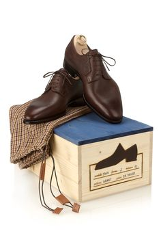 Sefano Bemer Vasari Full Grain Derby Shoe Exclusive to New & Lingwood. Handmade Leather Shoes, Suede Leather Shoes, Brogues, Loafers, Gents Shoes, Italian Shoes, Derby Shoes, Gentleman Style, Slip On Shoes