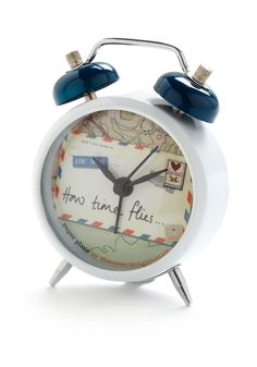 6. Modcloth desktop doodads #modcloth #makeitwork    This adorable clock is the perfect desktop doodad for my travel-inspired workspace!