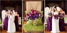 {purple wedding flowers}