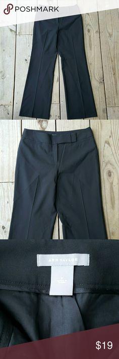 NWOT Ann Taylor slacks Black, NWOT,  size 2, Virgin wool, 5% lycra, lined Ann Taylor Pants Trousers