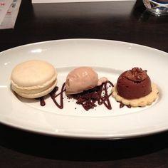 Triple chocolate indulgence from Chef Ray Bear at RUSH. #FoodiesYYC #BigTasteYYC