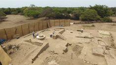 Entdeckt einen alten peruanischen Bankettsaal.  #Ausgrabung #Peru #Balettsaal