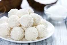 17 Best Protein Ball Recipes for Your Next Energy Boost Snacking doesn't have to be a dirty word, an Coconut Candy, Lemon Coconut, Nutella, Best Protein, Protein Ball, Cafe Moka, Coconut Truffles, Homemade Candies, Balls Recipe