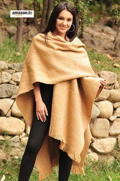 Gamboa Incredibly Warm Premium Alpaca Ruana Cape Gray