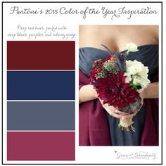 pantone color of the year 2015 - marsala - inspiration boards for wedding planning by grace and serendipity wedding colors september / fall color wedding ideas / color schemes wedding summer / wedding in september / wedding fall colors Wedding Color Pallet, Wedding Color Schemes, Marine Wedding Colors, Bridesmaid Colours, Bridesmaid Dresses, Wedding Dresses, Steel Blue Weddings, Trendy Wedding, Dream Wedding
