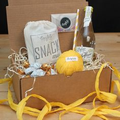 Pretty Lemonade Surprise Ball Goody Box #Thankyougift #sendagift #birthdaygift