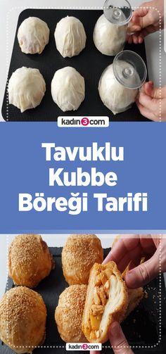 Tavuklu Kubbe Böreği Tarifi #BörekTarifi #YemekTarifi #KubbeBöreği #Tarif