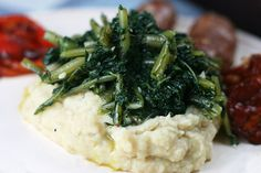 Fava Bean Puree With Sautéed Cicoria - a traditional vegetable dish from Puglia