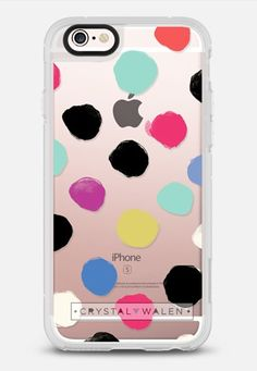 colorful dots pattern iPhone 6s case by Crystal Walen @casetify