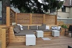 Montreal Outdoor Living – Urban Backyard Patio & Terrace in Hampstead Deck Bench Seating, Built In Seating, Garden Seating, Outdoor Seating, Outdoor Spaces, Outdoor Living, Outdoor Decor, Patio Bench, Banquette Seating