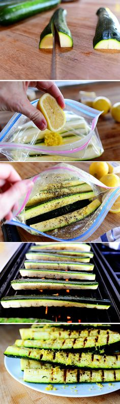 Grilled Zucchini with Lemon Salt by thepioneerwoman via diyready #BBQ #Zucchini #Healthy #Light