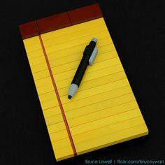 Lego Legal Pad/Pen