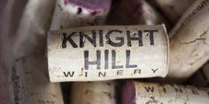 Knight Hill Winery in the Yakima Valey - label and cork design by saranelsondesign.com