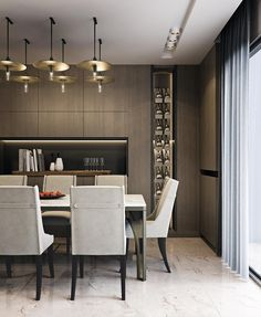Home Decoration Accessories Ltd Refferal: 4140554476 Luxury Dining Room, Dining Room Design, Dining Area, Kitchen Dining, Dining Chair, Modern Interior Design, Interior Design Living Room, Contemporary Light Fixtures, Hotel Decor