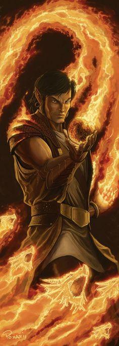 'Fire elementalist' Belcadiz elf (secret craft of Glantri)[http://www.pudim.com.br/]