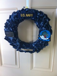 US Navy wreath made from an old uniform