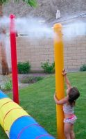 Colorful playground misting poles. DIY with PVC?