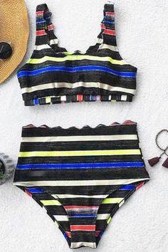 9e1c3ba64b5ca Cupshe Catch The Crayon Tank Bikini Set Floral Bikini Set