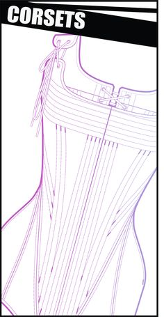 Corset patterns.