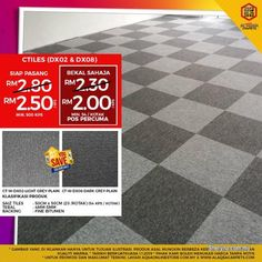Other for sale, in Klang, Selangor, Malaysia. Make your whole room look more interesting by Carpet Tiles! Carpet tile is versatile and easy to Commercial Carpet Tiles, Commercial Flooring, Carpet Tiles Cheap, Office Carpet, Commercial Office Furniture, Quality Carpets, Best Floor Tiles, Moving Boxes, Free Classified Ads