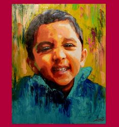 Portrait Painting Oil-Custom Portrait - Child Family Wedding Portraits - Pop Art Contemporary Modern Art - Made To Order Painting