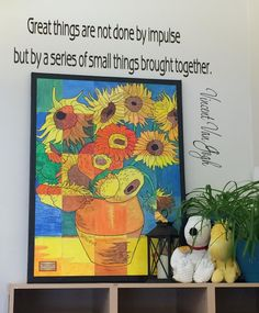 Kelli from Orangevale Adventist School shared the Van Gogh Sunflower Mural that her students recently finished. The artwork is amazing enough, but the framing and the quote on the wall are just the perfect finishing touch, if you ask me. Thanks again for sending this Kelli, I'm sure it will inspire lots of readers! Note: The … Read More