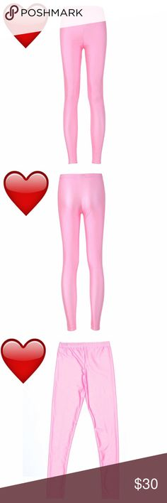 Bubble gum pink leggings New, never worn. Fun bubble gum pink leggings, good for xs and s. Thank you for visiting my closet, please let me know if you have any questions. I offer great discounts on bundles. 💕😊 lucy6mahon Pants Leggings