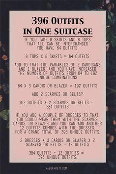 Hoe kan jij 396 verschillende outfits meenemen in één koffer! https://www.hotelkamerveiling.nl/