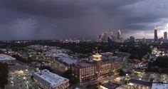 Atlanta Thunderstorm filmed by drone - Drone Buff