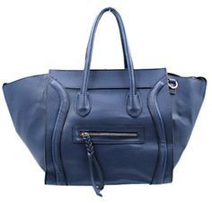 Blackcherry Navy Blue Celine Style with Front Zip Detail Handbag Celine, Navy Blue, Zip, Detail, Bags, Style, Handbags, Swag, Stylus