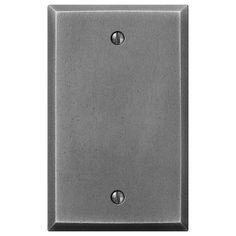 Manhattan Gunmetal Cast - 1 Blank Wallplate