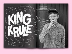brianaloha:  Lettering for an editorial spread on King Krule Brian Ahola