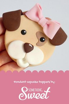 6 x fondant puppy cupcake toppers Puppy Dog Cakes, Puppy Cupcakes, 8th Birthday, Birthday Cakes, Fondant Cupcake Toppers, Desert Ideas, Animal Cakes, Cupcake Ideas, Animal Party