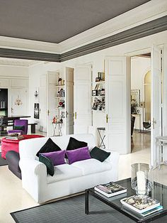 Ceiling paint ideas.... I like the idea of doing ceiling in dark