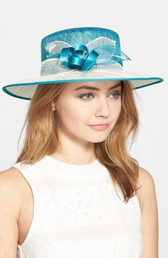 Nordstrom Sinamay Hat with Feather available at #Nordstrom