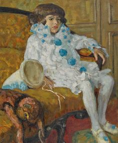 """  Ilma Graf-Dreyfus (Hungarian, 1872 – 1926): Jean (en Pierrot) (1912) (via Dobiaschofsky) """